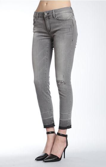 MAVI Adriana Ankle Grey Destructed Vintage Jean