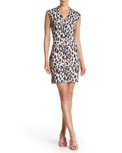 Sharagano Animal Print Dress
