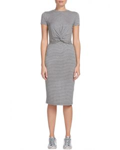 Sen Midi Twisted Front Dress