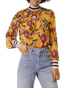 French Connection Eloise Crinkle Floral Top