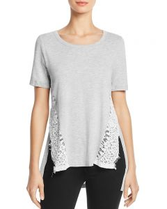 French Connection Hopper Lace Round Neck T-Shirt