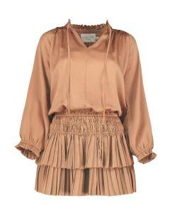 Elizabeth Crosby Pleat Mini Dress