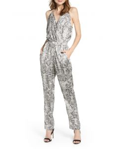 Bishop + Young Wild Thing Snakeskin Jumpsuit