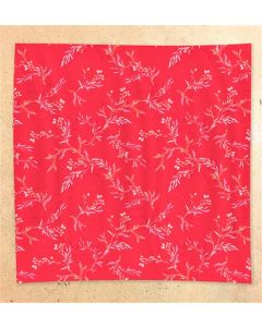 ECRU Visage Silk Floral Red Face Mask Scarf