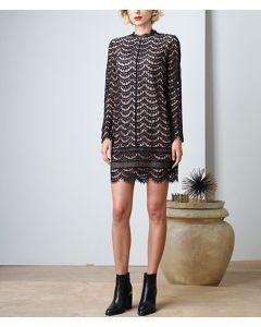 Adelyn Rae Black Lace Sheath Dress