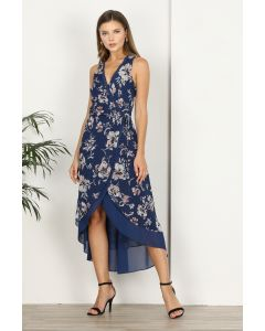 Adelyn Rae Nicole Faux Wrap Hi-Low Dress