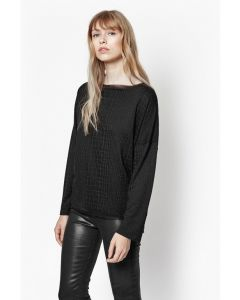 French Connection Winter Snake Long Sleeve Top