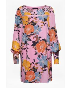 French Connection Shikoku Crepe Light Flower Tunic Dress