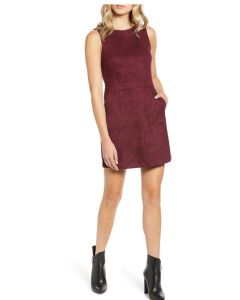 Bishop + Young Gemma Faux Suede Dress