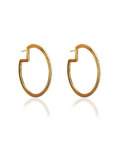 Liza Schwartz Glitzy 18k Gold Plated Hoops