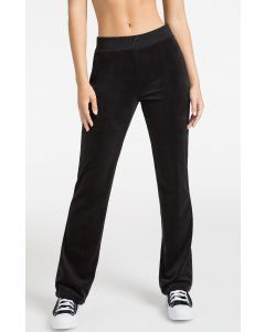 Juicy Couture OB Black Bling Velour Track Pant