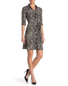 Laundry by Shelli Segal Leopard Print Shirt Dress