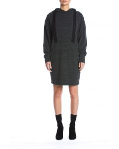 SEN Peace Charcoal Dress with Hood