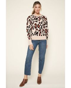 Sugarlips Leopard Print Sweater