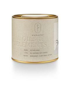 ILLUME Vetiver Sage Natural Tin Candle