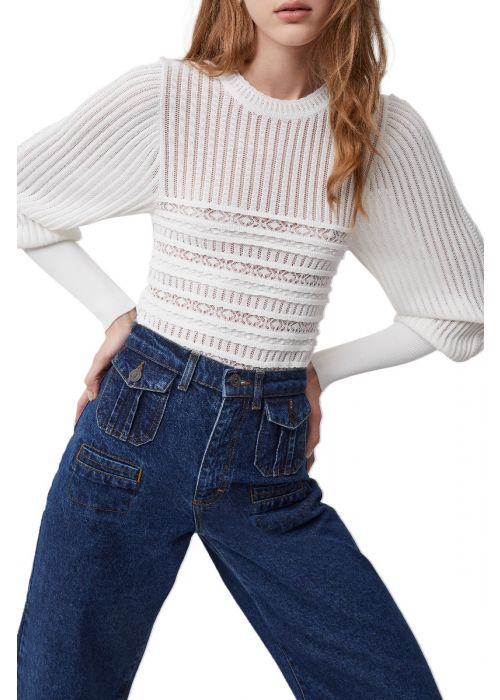 French Connection Orielle Knitted Puff Sleeve Sweater