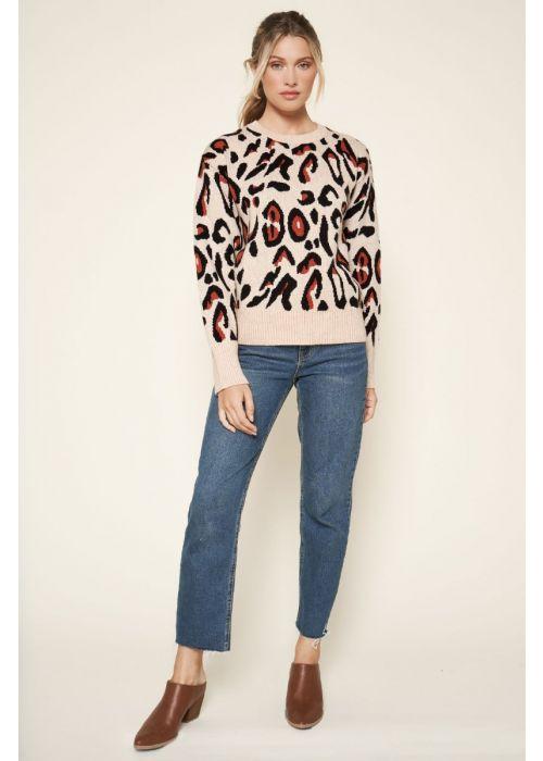 Sugarlips Leopard Print Sweater