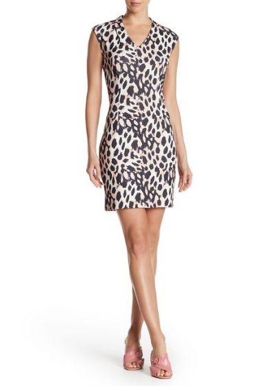 Sharagano Animal Print Dress