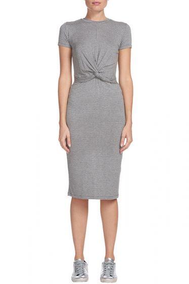 Sen Midi Twisted Front Dress