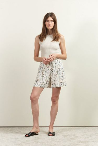 Comune Wright High Waist Floral Shorts