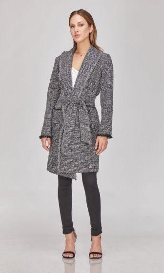 Greylin Veronica Boucle Knit Coatigan