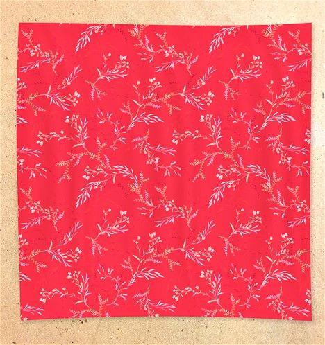ECRU Visage Silk Floral Red Face Mask Scarf