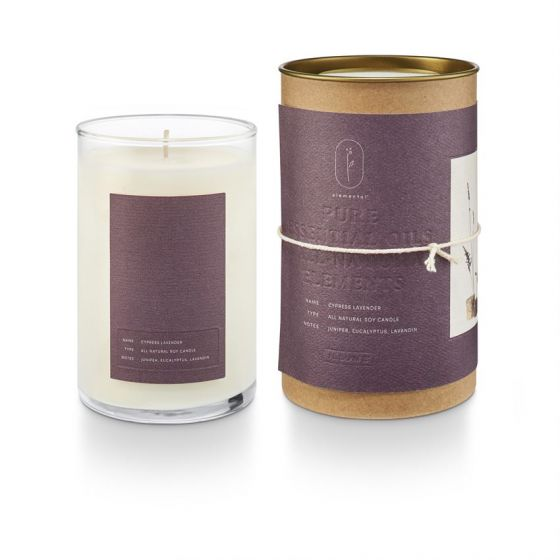 ILLUME CYPRESS LAVENDER NATURAL GLASS CANDLE