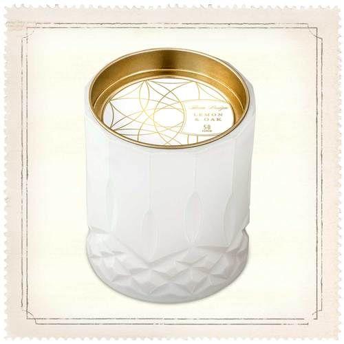 Skeem Axiom White Lemon and Oak Jar Candle