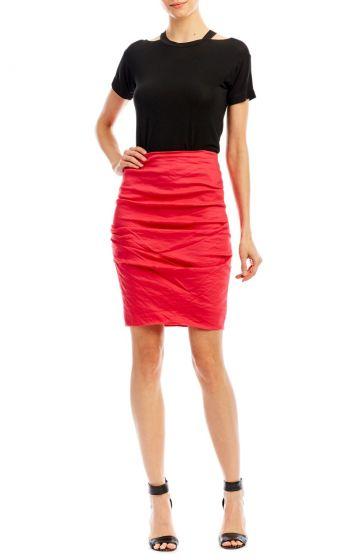 Nicole Miller Sandy Tuck Skirt