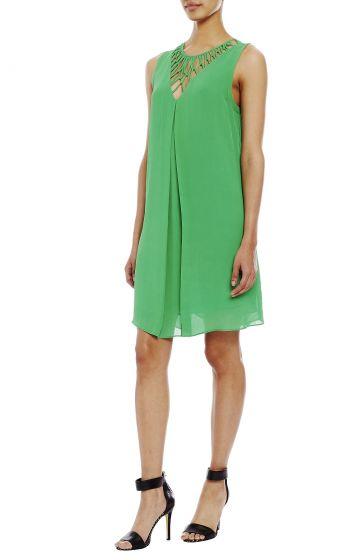 Nicole Miller Lattice Neck Dress