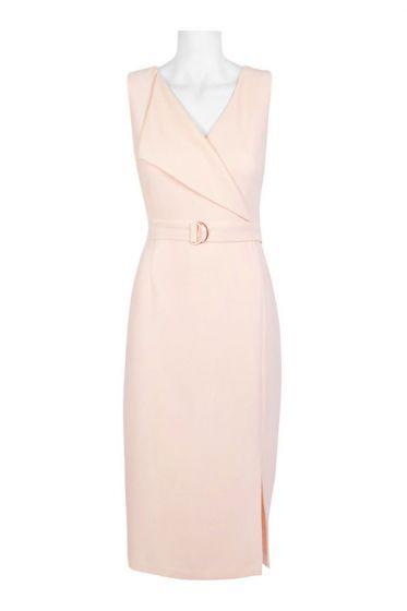 Adrianna Papell V-Neck Sleeveless Dress