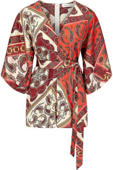 Bishop + Young Paisley Print Kimono Sleeve Romper