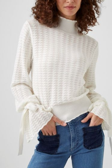 French Connection Marcela Tie Sleeve Sweater