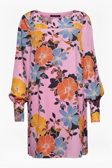 French Connection Shikoku Crepe Light Flower Tunic Dress