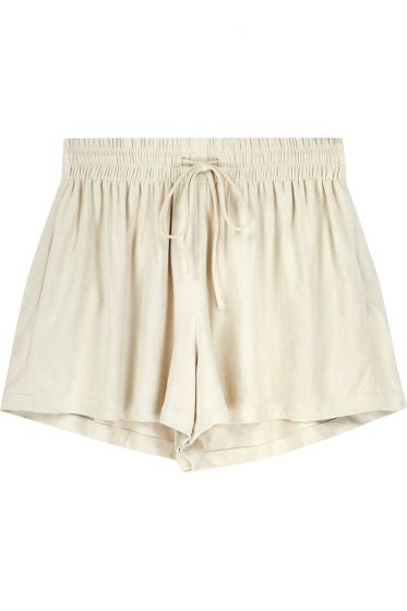 Bishop + Young Beige Suede Shorts