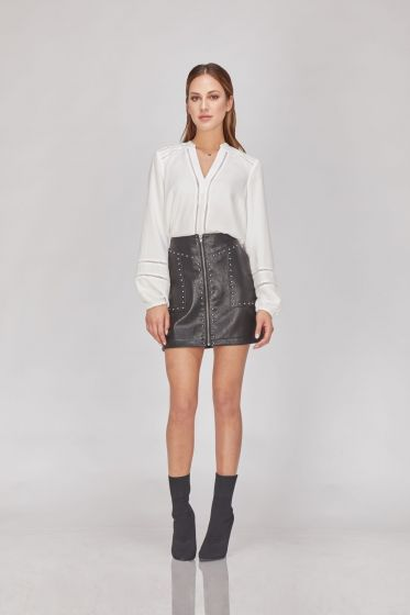 Greylin Luca Vegan Leather Skirt