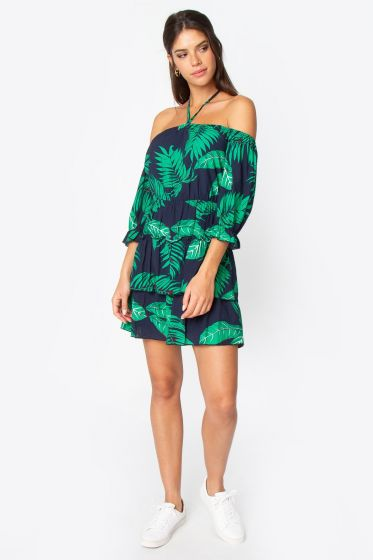 Sugarlips Jane Off The Shoulder Halter Dress